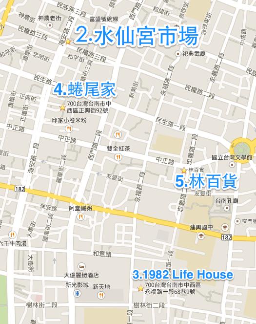 台南:水仙宮市場,蜷尾家,1982 Life House,林百貨