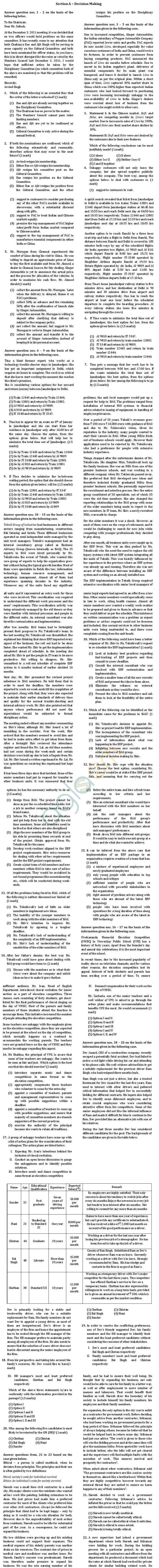XAT 2012 Question Paper with Solutions