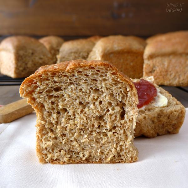 Pull-Apart 100% Whole Grain Dinner Rolls
