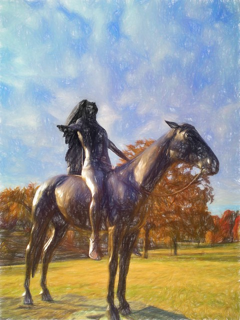 Great Spirit - Topaz Impressions - Colored Pencil