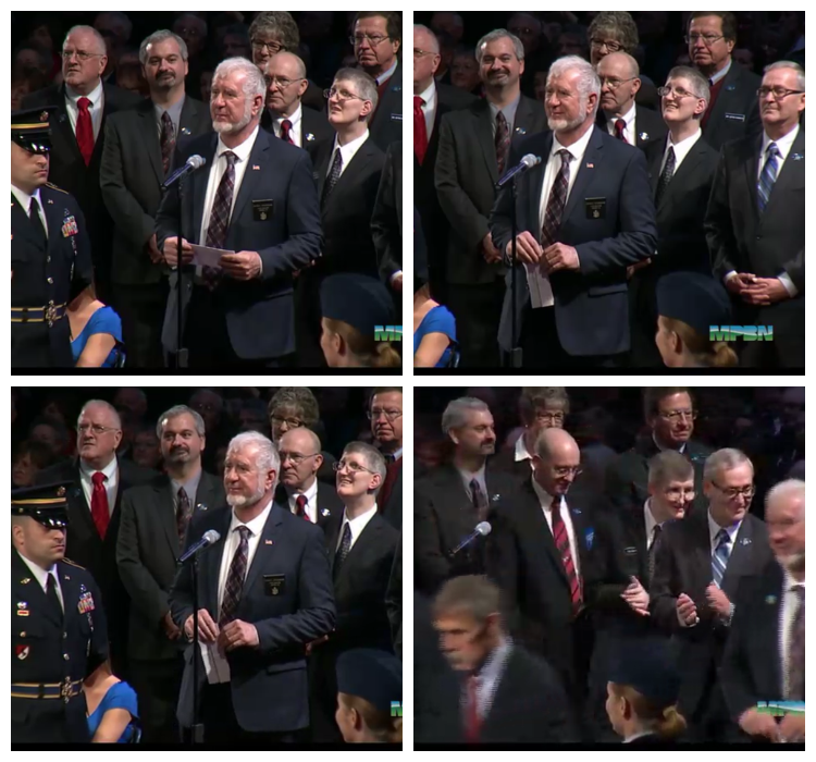 Will Tuell at LePage Inauguration
