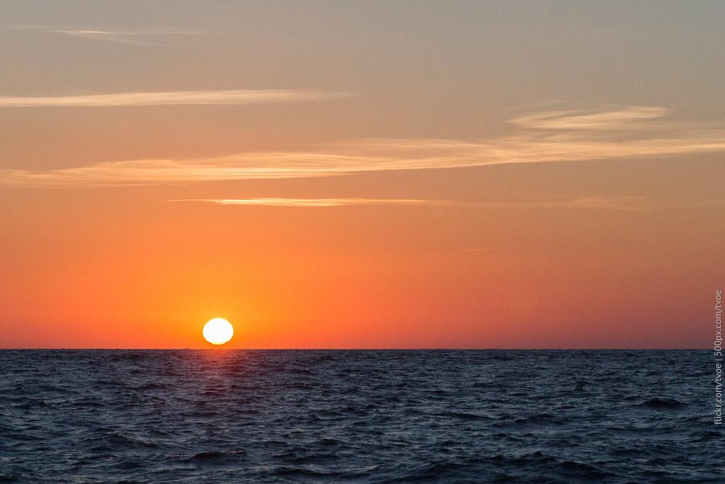 Закат в Средиземном море на Ибице