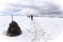 Treking across the snowy plateaux - Laugavegur Trail