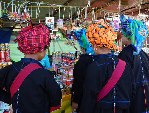 At the Weekly Market in the Village at the End of Inle Lake (Myanmar)