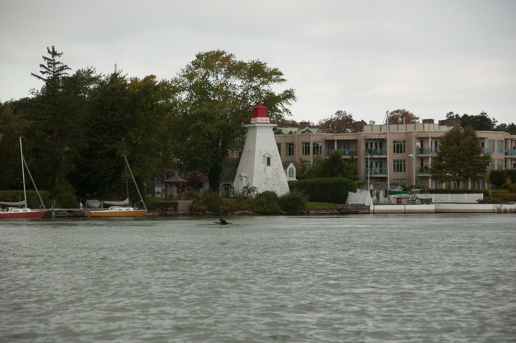 Lighthouse as seen from Whirlpool jet boat tour