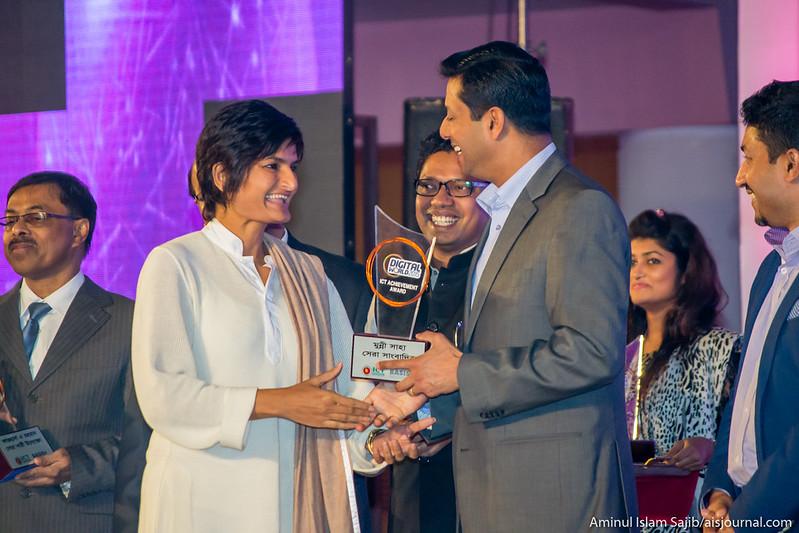 Munni Saha Receives Best Reporter Award