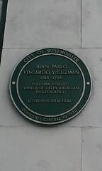 Photo of Juan Pablo Viscardo Y Guzman green plaque