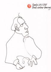 Ramón (Blind contour drawing) #BlindDrawing, #Drawing, #Jkpp, #JuliaKaySPortraitParty, #Portrait