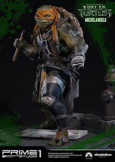 Prime 1 Studio 忍者龜:變種世代【米開朗基羅】MICHELANGELO 1/4 比例全身雕像