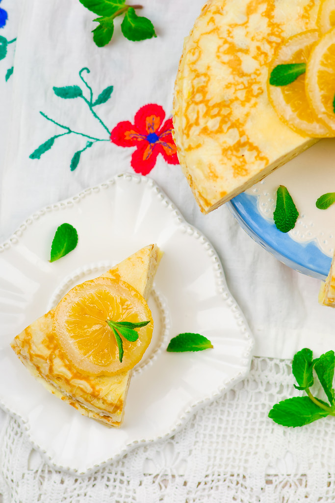 blinis pie with the lemon curd