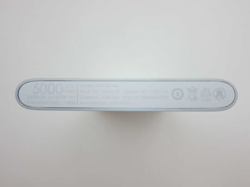 Xiaomi Mi 5,000mAh Power Bank - Bottom