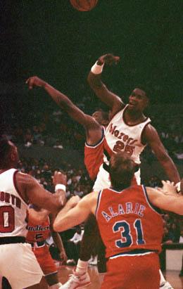 Blazers v Bullets, January, 1991