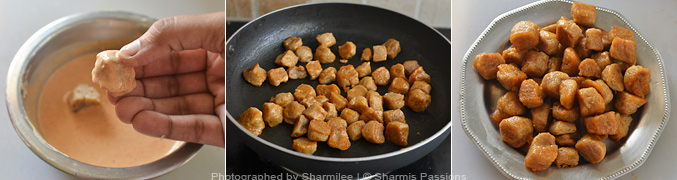 How to make soya chunks manchurian - Step3