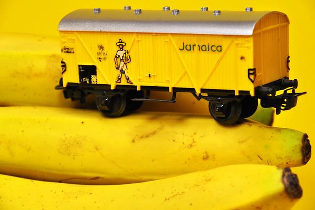 Modellbahn H0 Güterwagen Bananenwagen Jamaica Banane Farbe gelb