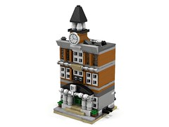 Town Hall Mini Modular (LDD Building Instructions)  by  O0ger