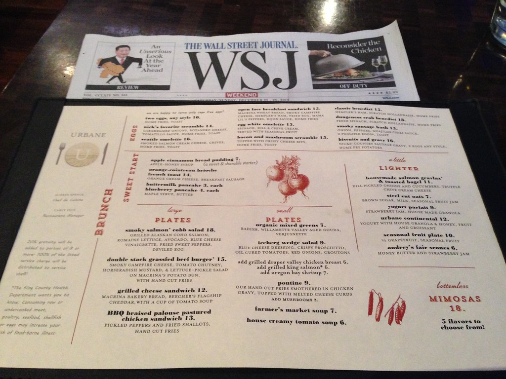 Menu and Newspaper