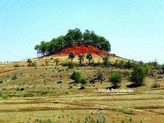 Red hill in Jharkhand state, India.