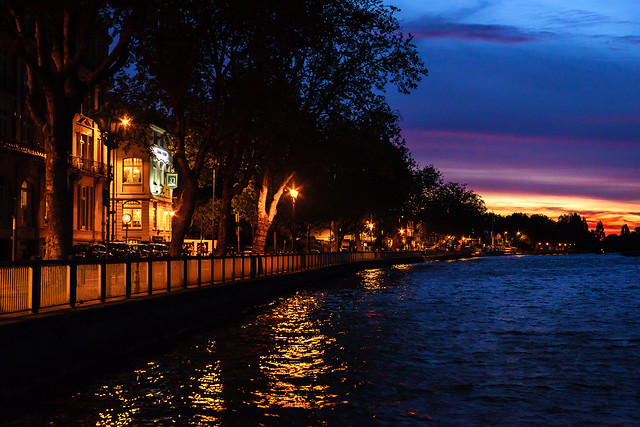 Twilight at Putney Embankment just after sunset
