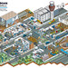 Morgan Sindall Site Set-Up Guide Illustration - isometric Infographic Illustration by Rod Hunt