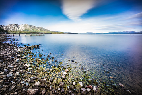 california longexposure travel sky usa lake snow mountains reflection beach nature clouds landscape photography pier photo rocks unitedstates sony voigtlander tahoe onsale ultrawide 15mm southlaketahoe ultrawideangle voigtlander15mm sonya7