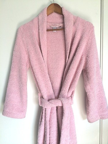 Fuzzy pink robe