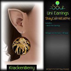2014 UniEarrings StayCalm&EatPie - KrackenBerry