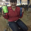 Ella after Regional Hog show. #won #skillathon #pork #hogs