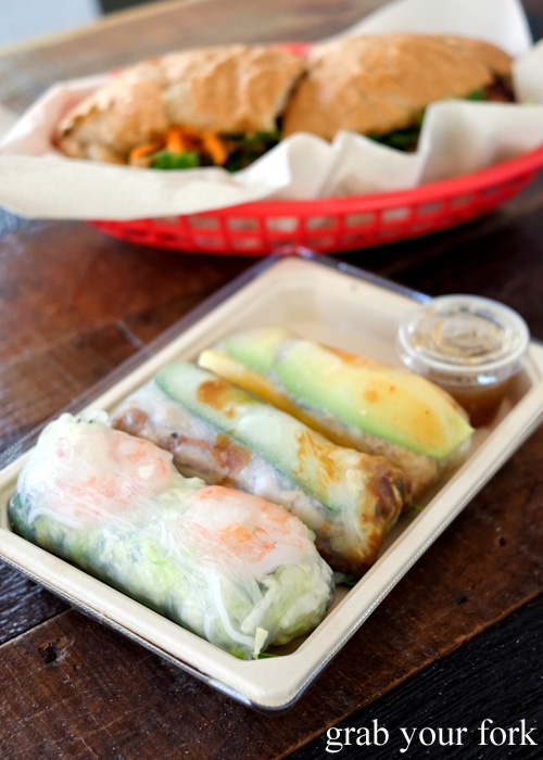 Goi cuon rice paper rolls at Great Aunty Three, Surry Hills