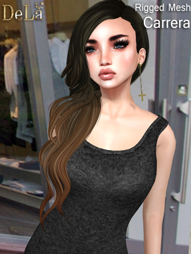 "=DeLa*= New Rigged Mesh Hair ""Carrera"""