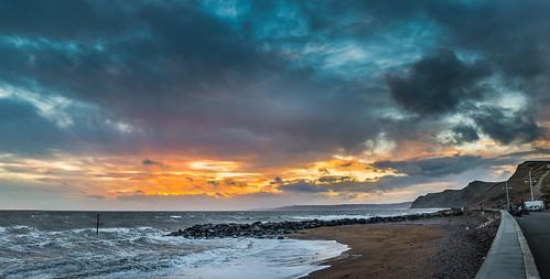 uk winter sunset sea england storm cold beach evening coast seaside waves afternoon unitedkingdom coastal dorset bridport westcountry westbay wessex westdorset ukstorm broadchurch stephenbanks dorsetscouser dorsetscouserphotography