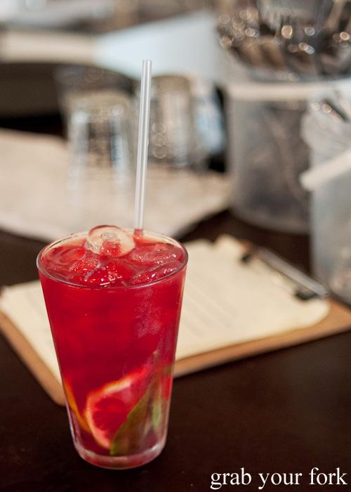 Egyptian rose ice tea at Brewtown Newtown