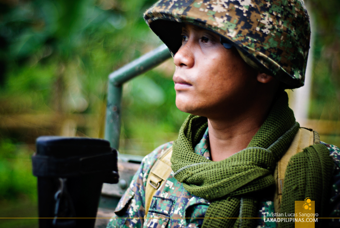 A Soldier at the MBLT6 Marine Camp in Patikul, Sulu