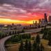 Seattle Sunset by Steven Lamar