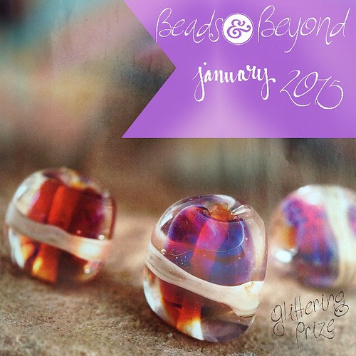 See how I make these beads with a special reactive glass in the next issue of Beads & Beyond.... Out on the 15th!  Trudi x  #glitteringprizeglass #tutorial #lampwork