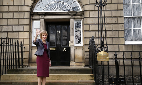First Minister outside Bute House
