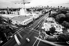 Camperdown City Skyline B&W-4