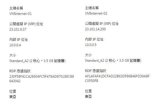 [Azure] 兩台 Azure VM 使用內部 IP 互 ping-10
