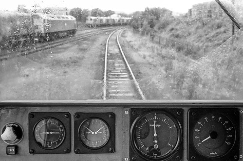 Barrow Hill from the cab of 56109