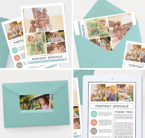 Modern Photography Newsletter Template for Photoshop www.hazyskiesdesigns.com