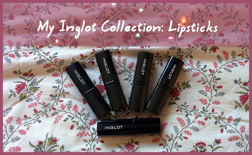my inglot collection lipsticks