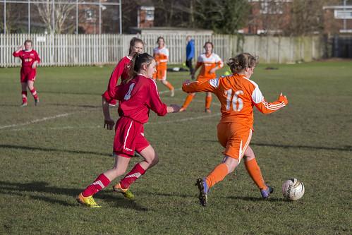 A Bridgwater player kicking the football