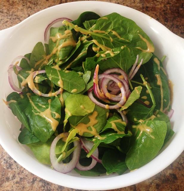 Spinach & Warm Beet Salad