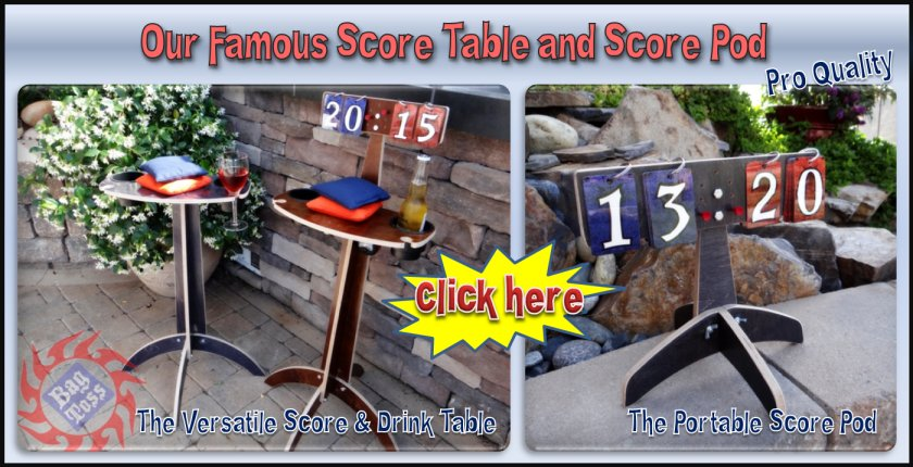 Our Famous Score and Drink Tables and Score pods