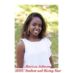 """Spotlight Feature: Marissa Johnson, Rising Star at San Diego State University. """"On my quest to find myself in a world that is busy and hectic, everyone has an opinion and direction for you. But I always believe that it is important to have a PERSONAL goal"""