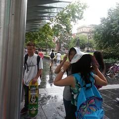 not prepared for rain #Melbourne #summer...