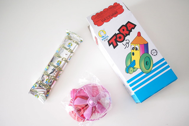"Kinos Tora. nostalgic for the 1980s? retro ""old school"" Singapore snacks"