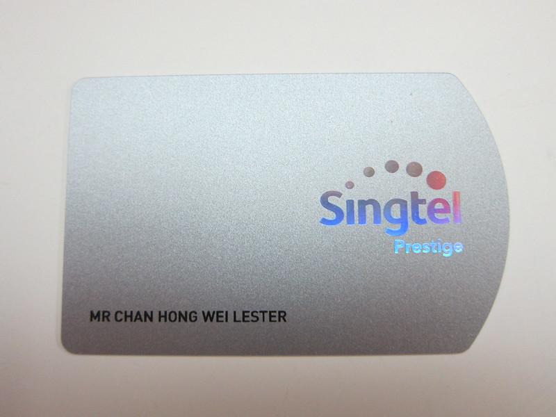 Singtel Prestige (2015) - Card Front