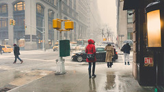 Snow Falls in NYC