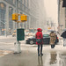 Snow Falls in NYC by Jeffrey