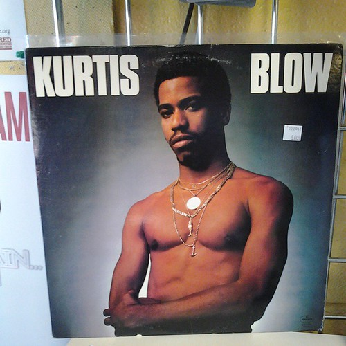 Kurtis Blow these are the breaks! Even if you arent a fan of his music, you know you still want to frame him and hang him on your wall! #recordarchive #rochester #Recordstore #sexy #shirtless #vinyl